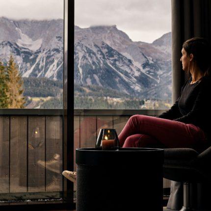 Suite im ARX Hotel mit Blick auf Dachstein
